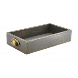 Grey Wash Acacia Wood Display Drawers GN 1/3
