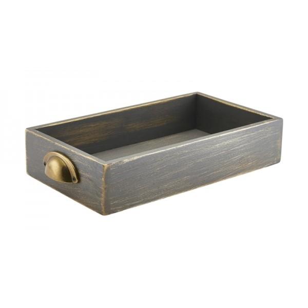 Grey Wash Acacia Wood Display Drawers GN 1/3