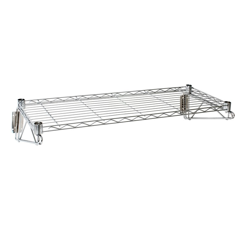 Wall Wire Shelving | Wall Mounted Wire Shelf 36 L X 14 D Weight Capacity 30kg