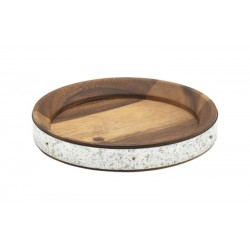 Acacia Wood Zinc Banded Serving Board 17cm